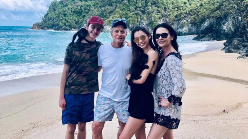 Catherine Zeta-Jones and Michael Douglas in Cuba