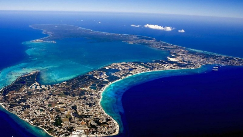 Cayman Islands from the air