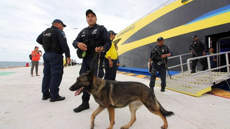 law enforcement in Mexico's Cancun