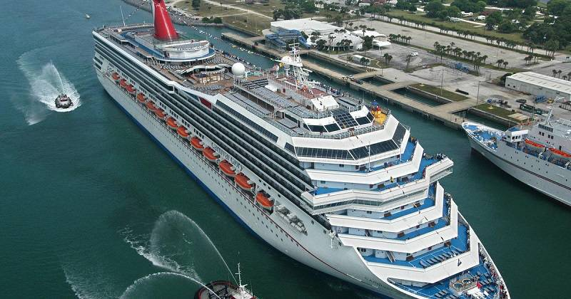 Carnival cruise from the air