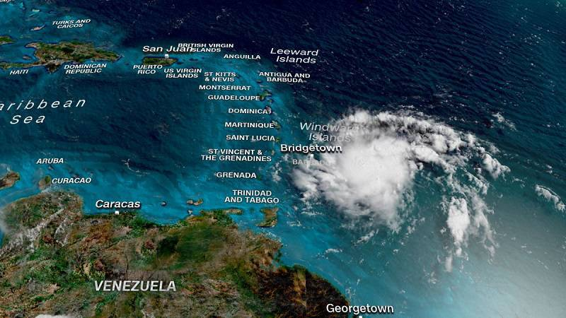 Tropical Storm Dorian Barrels Down to Puerto Rico