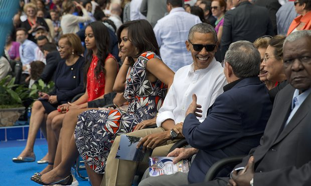 President Obama Attends Exhibition Game in Havana
