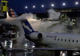 Winter Storm Forces Flight Cancellations across the U.S.