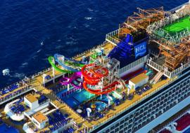 NCL ship from the air