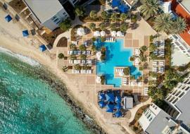 Curacao Marriott Beach Resort viewed from above
