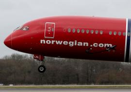 Norwegian plane taking off