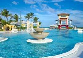 swimming pool at the Sandals Emerald Bay