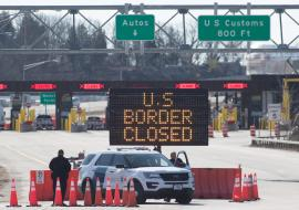 US Canada border control closed