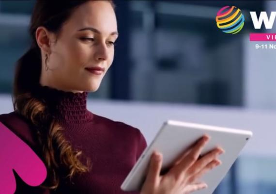 woman with iPad