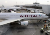 Air Italy plane on tarmac