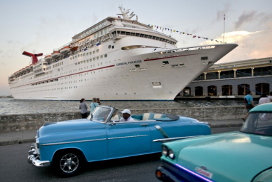 Carnival Cruise ship in Havana